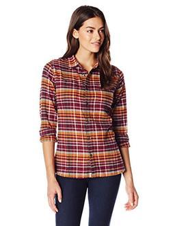 Woolrich Women's The Pemberton Flannel Shirt, Wild Berry, Sm