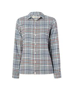 Woolrich Women's The Pemberton Flannel Shirt, Ivory Mix M
