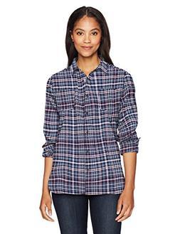 Woolrich Women's The Pemberton Flannel Shirt, Neptune, M