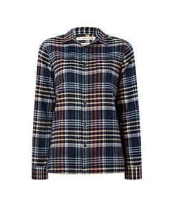 Woolrich Women's The Pemberton Flannel Shirt, Navy Plaid, XS