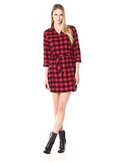 Woolrich Women's Pemberton II Flannel Shirt Dress, Red Buffa