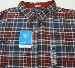 Columbia PFG Harborside Flannel Fishing Shirt Plaid Mens 2XL