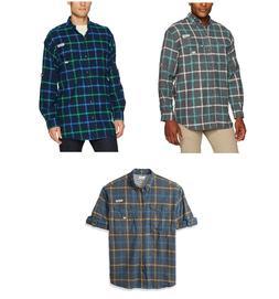 Columbia PFG Men's Bonehead Flannel Long Sleeve Shirt - NEW