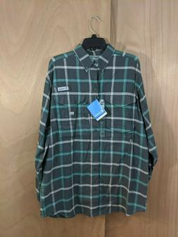 Columbia PFG Men's Bonehead Flannel Long Sleeve Shirt - NEW