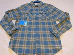 pfg plaid flannel beadhead vented fishing shirt