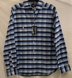 Psycho Bunny Pima Cotton flannel plaid shirt