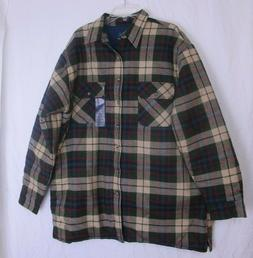 Towncraft Plaid Flannel Quilt Lined Work Shirt -  Mens Sz XL