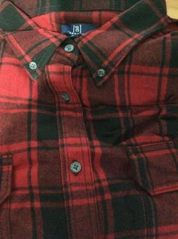 George Plaid Flannel Shirt 2XL NWT
