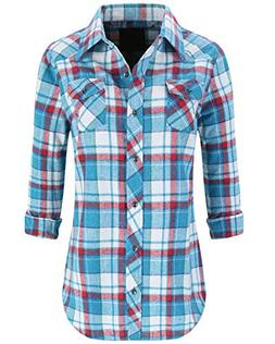 Lilicherry Plaid Flannel Shirt Women Flannel Shirt Women