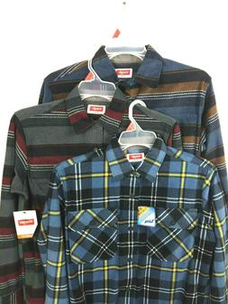 WRANGLER Plaid FLEECE flannel SHIRT With Side Pocket Men's S