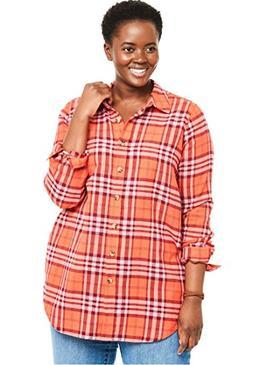 plus classic flannel bigshirt