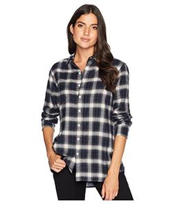 Pendleton Women's Primary Flannel Shirt, Midnight Navy Plaid