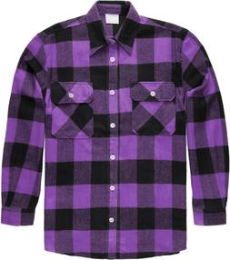 Purple Extra Heavyweight Brawny Buffalo Plaid Flannel Shirt