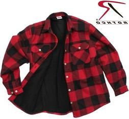 Red & BlackFlannel Shirt Polar Fleece Lined H.W. Buffalo Fla