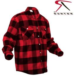 Red Plaid Heavyweight Brawny Buffalo Plaid Flannel Shirt Rot