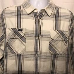 RVCA Reverberation Mens XL Plaid Flannel Long Sleeve Shirt B