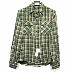 RRL Double RL Ralph Lauren Mens Plaid Flannel Work Shirt Gre