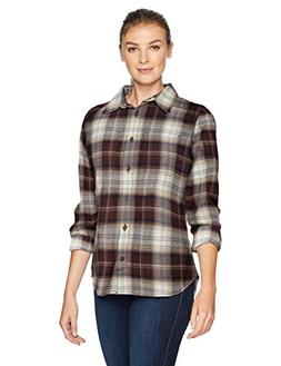 Carhartt Women's Rugged Flex Hamilton Flannel Shirt, deep Wi