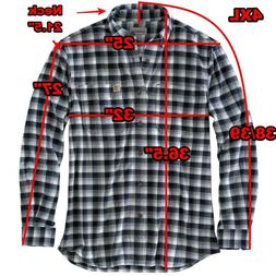 Carhartt Rugged Flex Hamilton Plaid Flannel Navy Check Shirt