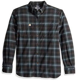 Carhartt Men's Rugged Flex Hamilton Plaid Shirt, Dark Slate,