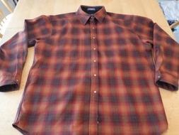 Pendleton Rustic Native American Plaid flannel,Rare men's XL