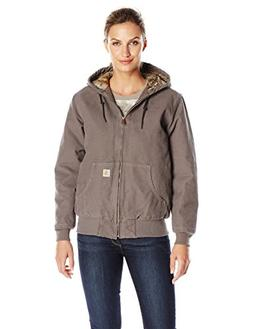 Carhartt Women's Sandstone Active Jacket Camo Lined, Taupe G