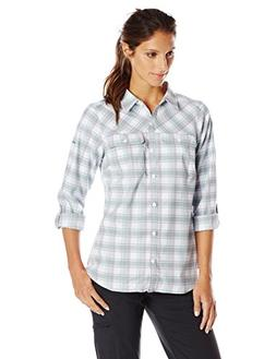 Columbia Women's Saturday Trail II Flannel Shirt, Blueglass,