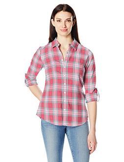 Aventura Women's Sheridan Long Sleeve Flannel Shirt, Spiced