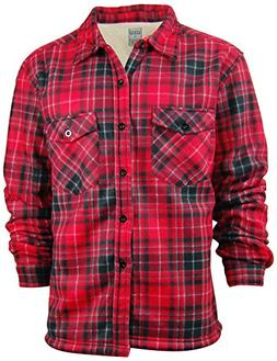 Oakwood Mountain Men's Sherpa Lined Flannel Shirt Jacket