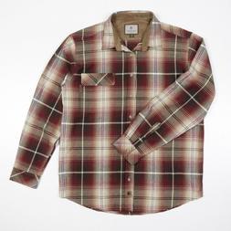 Legendary Whitetails Shirt L/S Cotton Flannel Brown Plaid Me