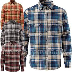 Wolverine Shirt Mens Redwood Heavyweight Long Sleeve Flannel