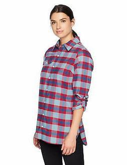 Columbia Silver Ridge Flannel Tunic, Small, Aqua H - Choose
