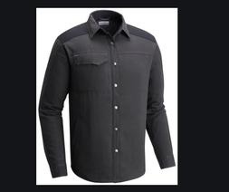 Columbia Silver Ridge Grey Long Sleeve Flannel Shirt Jacket