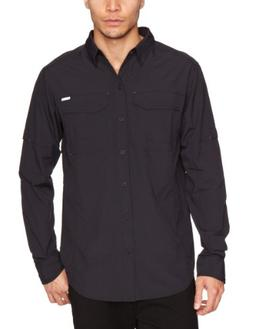 Columbia Men's Silver Ridge Long Sleeve Shirt, Black, Medium