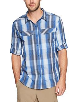 Columbia Men's Silver Ridge Plaid Long Sleeve Shirt, Azul Mu