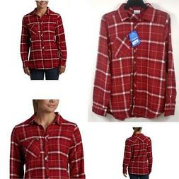 Columbia Simply Put II Flannel Shirt Beet Dobby Red Choose S