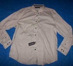 size xl mens button front shirt long