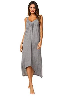 Ekouaer Womens Sleeveless Long Nightgown Summer Slip Night D