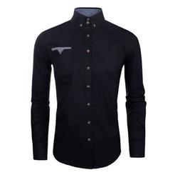stylish mens slim fit cotton flannel long
