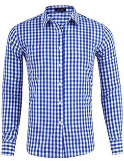 slim fit plaid checkered gingham