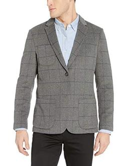 Goodthreads Men's Slim-Fit Wool Blazer, Heather Grey Windowp