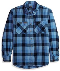 Smith's Workwear Men's 100% Cotton 4 oz Flannel Shirt, Chamb