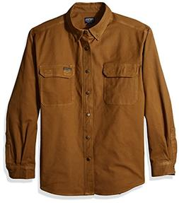 Smith's Workwear Men's Flannel Lined Canvas Work Shirt, Rugg