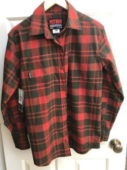 Burton Snowboards Dry Ride Plaid Flannel Shirt Mens Size Sma