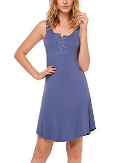 Ekouaer Women's Soft Sleepwear Long Sleeve Pajama Set with L