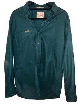 Woolrich Sportsman Chamois Flannel Shirt M Men's Olive Green