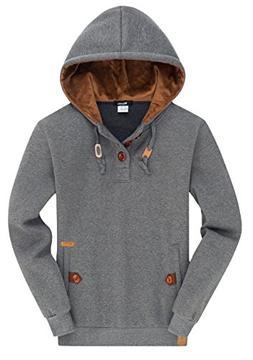 Wantdo Men's Spring Pullover Hoodies Shirts Comfortable Caus