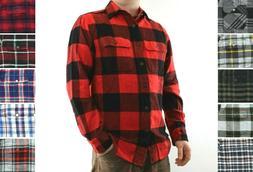 St. John's Bay Flannel Shirt Men's Plaid Heavyweight Long Sl