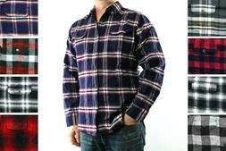 St. John's Bay Flannel Shirt Men's Plaid Long Sleeve Button