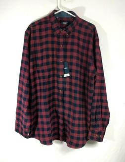Izod Stratton Flannel Men's Long Sleeves Button Front Shir